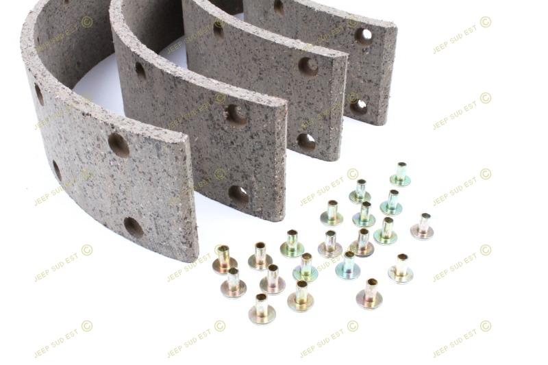 garniture machoire de frein 4 rivets frein hydraulique jeep. Black Bedroom Furniture Sets. Home Design Ideas