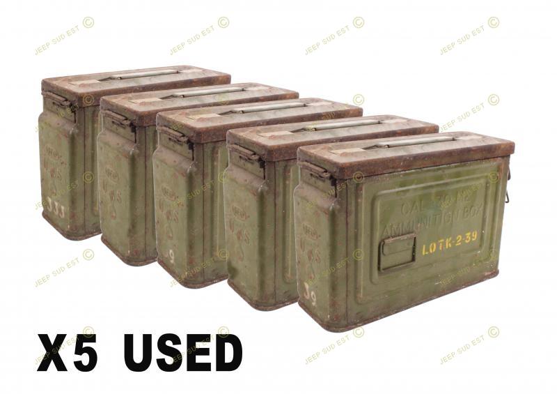 boite munition tole us cal 30 a restaurer lot de 5 boites munitions collector armement. Black Bedroom Furniture Sets. Home Design Ideas