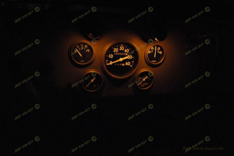 kit eclairage tableau de bord usa faisceau coton electricite 6 v jeep. Black Bedroom Furniture Sets. Home Design Ideas